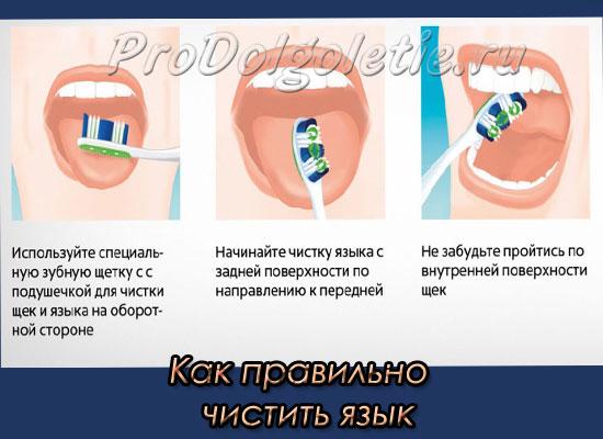 Как правильно чистить язык